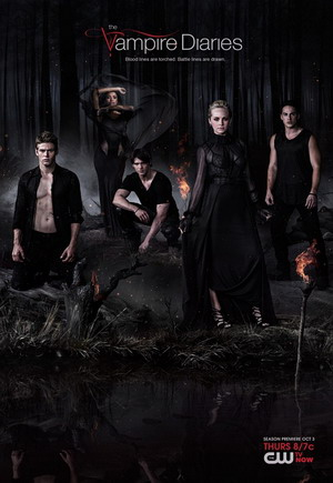 The Vampire Diaries Season 6 dvd poster